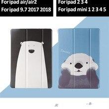 Прекрасный тонкий чехол для ipad Air 2 Air 1 чехол 9,7 принципиально жесткий чехол-накладка из искусственной кожи чехол для ipad Mini 5 4 3 2 1 чехол для ipad 2