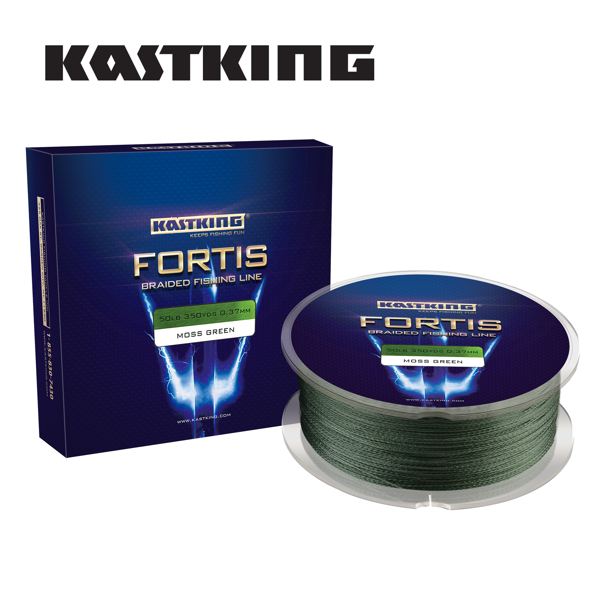 KastKing Fortis Series 150M 320M 4 Strands Multifilament Fishing Line Super Strong PE 4 Colors 8-80LB Braided Fishing Line