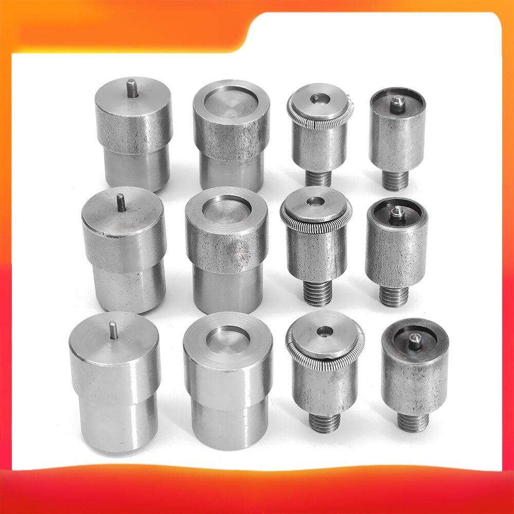 Snap Tasten Stirbt Set für 655/633/831 Hand Drücken Maschine Ersatzteile retainer stirbt Metall tasten 10mm 12,5mm 15mm