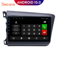 Seicane 10.1 inch Android 10.0 Quad core Car Radio Multimedia Player for 2012 2013 Honda Civic GPS Navigation with WIFI DVR