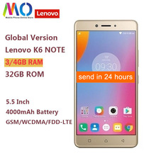 Ursprüngliche Globale Version Lenovo K6 Hinweis K53a48 4GB 32GB Smartphone Snapdragon 430 Octa Core 4000mAh 5,5 zoll 1920x1080 16MP Kamera