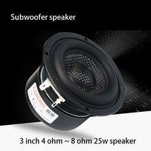 4 ohm~8 ohm 3 inch speaker 25~50W woofer subwoofer hifi speaker unit glass fiber woven basin low frequency powerful