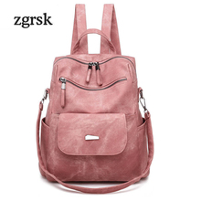 Women Backpack Adjustable Strap Backpack Designer Zipper Black Pu Leather Preppy Style School Bags For Teenagers Rucksack