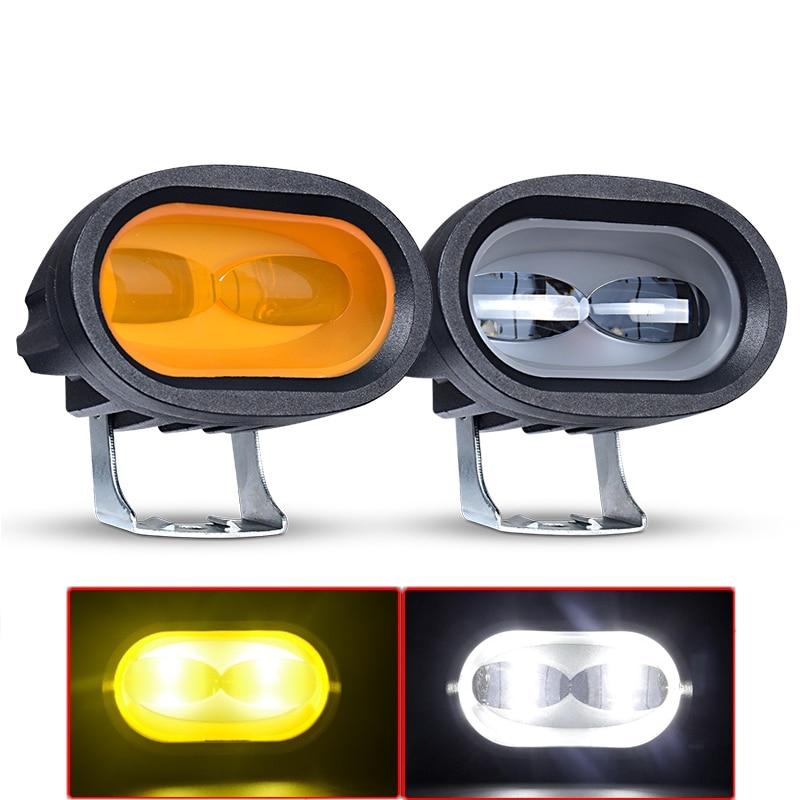 6D 20W LED Work Light White 6000K Universal Motorcycle Off Road Auxiliary Spot Lamp Driving Fog Light For Car Truck SUV ATV UTV