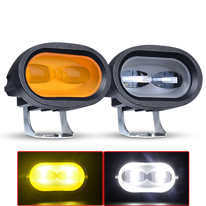 6D 20W LED światło robocze biały 6000K uniwersalny motocykl Off Road pomocniczy lampa punktowa jazdy światło przeciwmgielne dla samochodów ciężarowych SUV ATV UTV