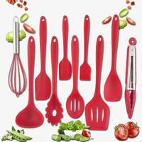 10pcs Silicone Cookware Kitchenware Set Heat Resistant Nonstick Spoon Spatula Ladle Egg Beaters Kitchen Cooking Baking Tools