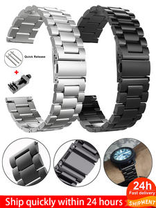 24mm-Band Gtr-Straps Galaxy Watch Amazfit Bip 18mm 20mm Stainless-Steel SAMSUNG 22mm
