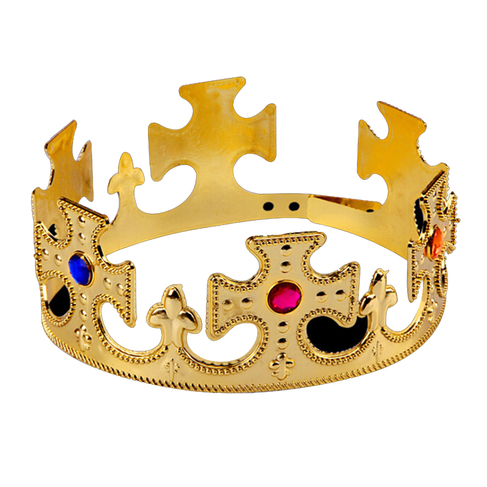 Birthday Imperial Crown Toy Crown Kid Toys Happy Birthday Party Decoration Royal King Plastic Crown Prince Costume Accessory