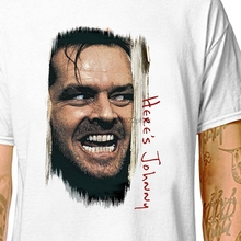 T-SHIRT The Shining - Heres Johnny!Men'ss & 'ss Tees in  (LazyCarrot) kubric horror movie poster jack nicholson men t shirt t nicholson violin sonata