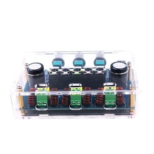 Image 5 - Avec boîtier TPA3116D2 2.1 canaux Audio basse Subwoofer ampli Bluetooth 5.0 stéréo numérique amplificateur de puissance carte 50Wx2 + 100W XH A305
