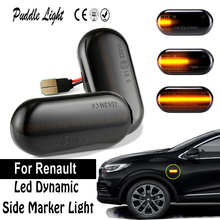 2Pcs LED Dynamic Side Marker Turn Signal Light For Renault CLIO I ESPACE III KANGOO LAGUNA MEGANE TWINGO 19 II MASTER II front engine mounting for renault 19 ii 2 19 i 1 megane i 1 megane 7700785949