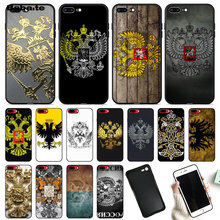 Babaite Rusia Lambang Double Headed Eagle Tpu Hitam Ponsel Case Penutup untuk Apple Iphone 8 7 6 6S Plus X XS Max 5 5S SE XR(China)