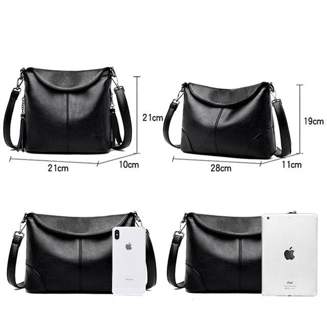 Soft Leather Crossbody Bags for Women 2020 Luxury Handbags Women Bags Designer Female Casual Hand Shoulder Bag bolsos de mujer 6
