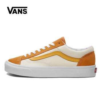 цена Vans Style 36 Shoes Original Orange White Vans Low Shoes Men Women Sneakers VN0A3DZ3VXY Unisex Skateboarding онлайн в 2017 году