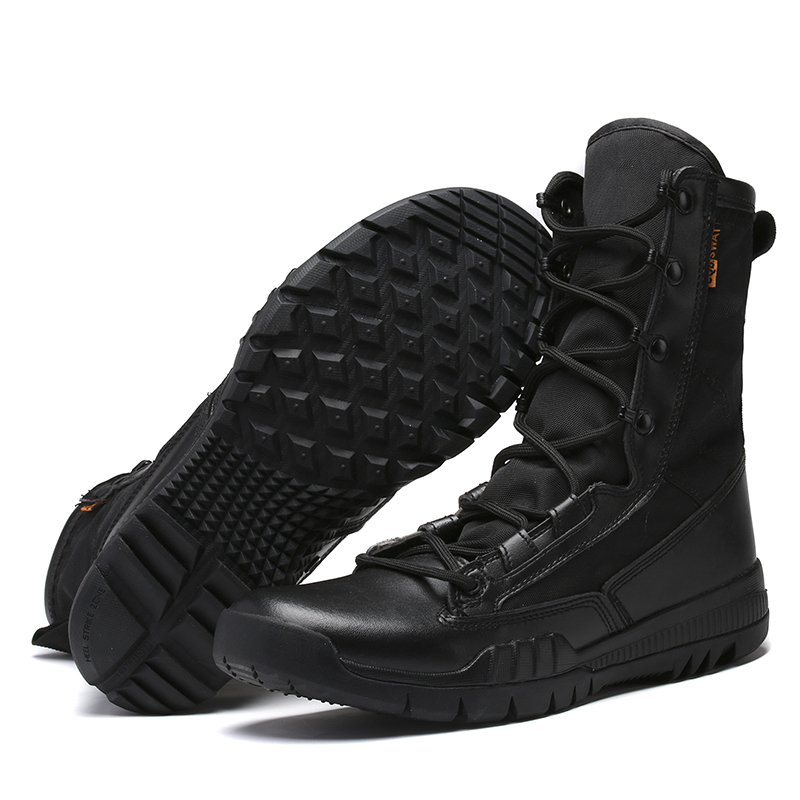 Autumn Men Tactical boots Military boots Men Army Work Shoes Leather Outdoor shoes Ankle Men boots