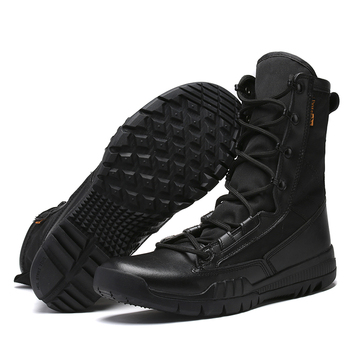 Autumn Men Tactical boots Military boots Men Army Work Shoes Leather Outdoor shoes Ankle Men