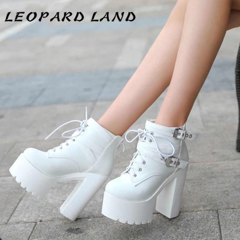 Luipaard Land 2019 Winter Super Dikke Bodem Mode Laarzen Sexy Hoge Hakken Vrouwen Laarzen Nachtclubs Warme Dikke Boot ZYW-659-1