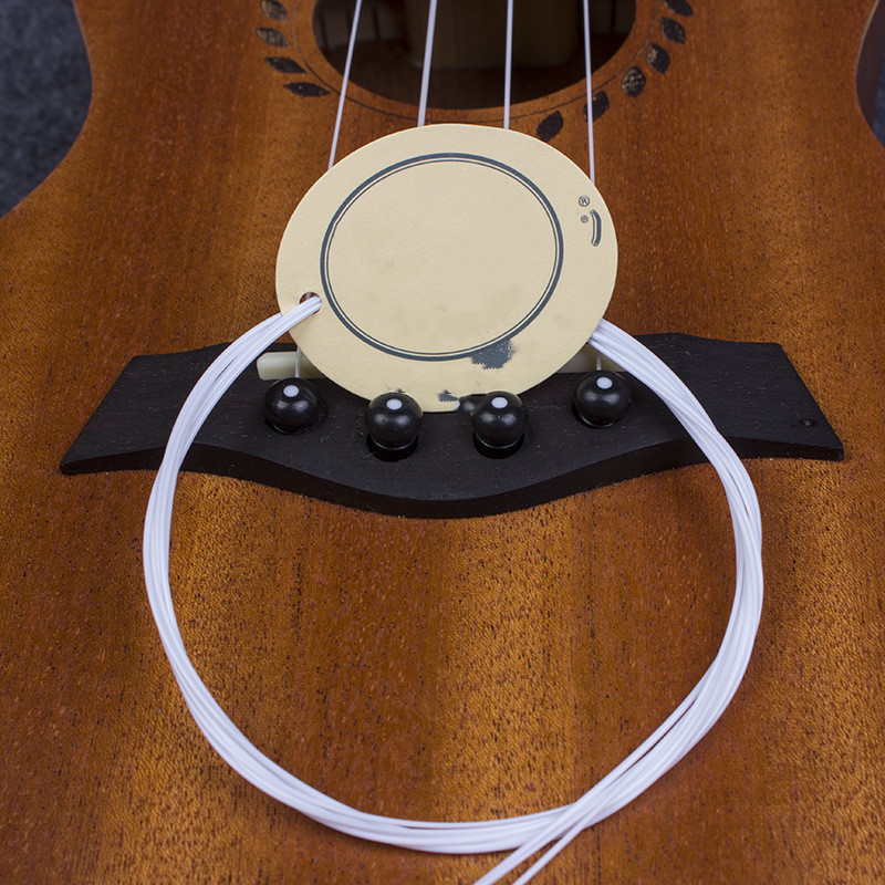 4 Pcs/set Nylon Ukulele Strings With Tag Replacement Part For 21 Inch 23 Inch 26 Inch Stringed Instrument Guitar Accessories