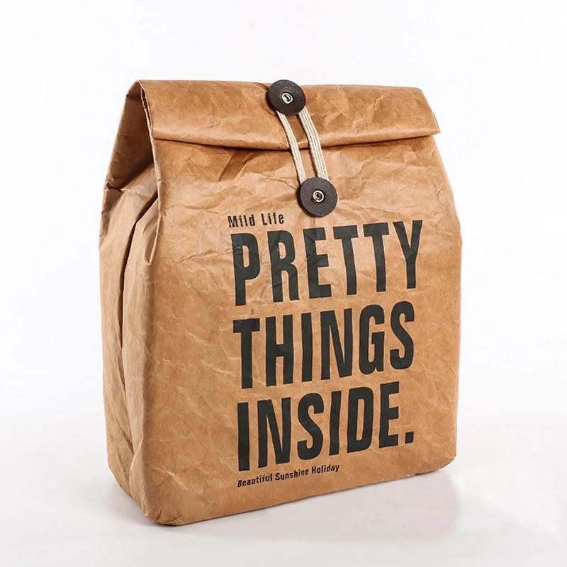 Tyvek paper handbag Big Tyvek waterproof bag Brown Tyvek tote Bag Vegan bag eco bag tyvek paper bag Brown Vegan bag