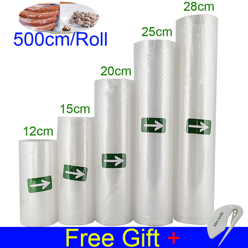 Пакеты для вакуумного упаковщика, 12 + 15 + 20 + 25 + 28 + 30 см * 500 см