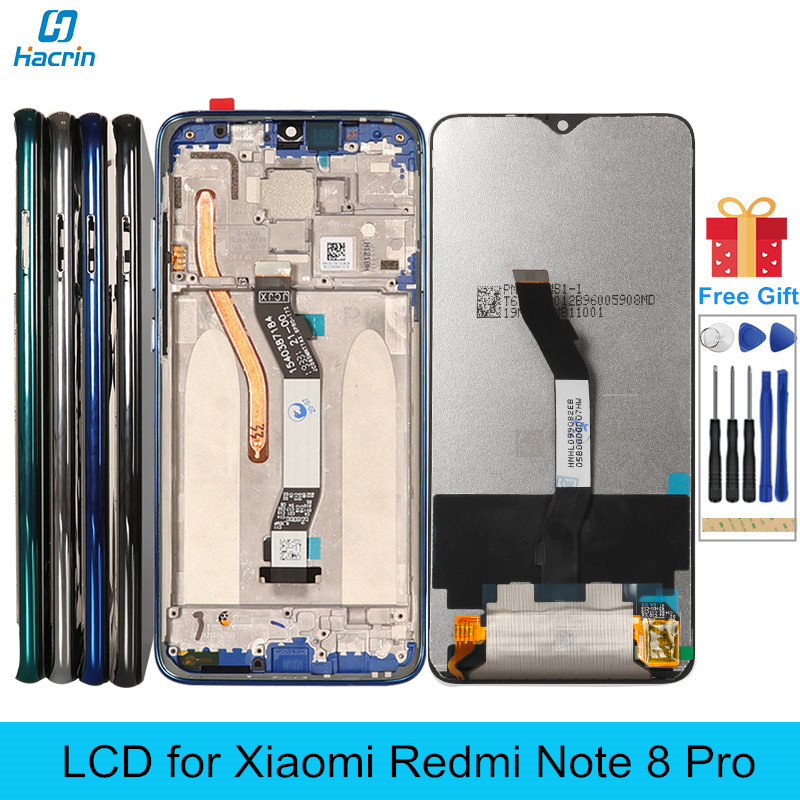 LCD for <font><b>Redmi</b></font> Note <font><b>8</b></font> Pro <font><b>Display</b></font> LCD with Frame Touch Screen Replacement on for <font><b>Xiaomi</b></font> <font><b>Redmi</b></font> Note <font><b>8</b></font> Note8 Pro Global <font><b>Display</b></font> LCD image