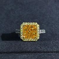 Wong Rain Luxury 925 Sterling Silver 2 CT Radiant Cut Created Moissanite Gemstone Diamonds Wedding Engagement Ring Fine Jewelry 2