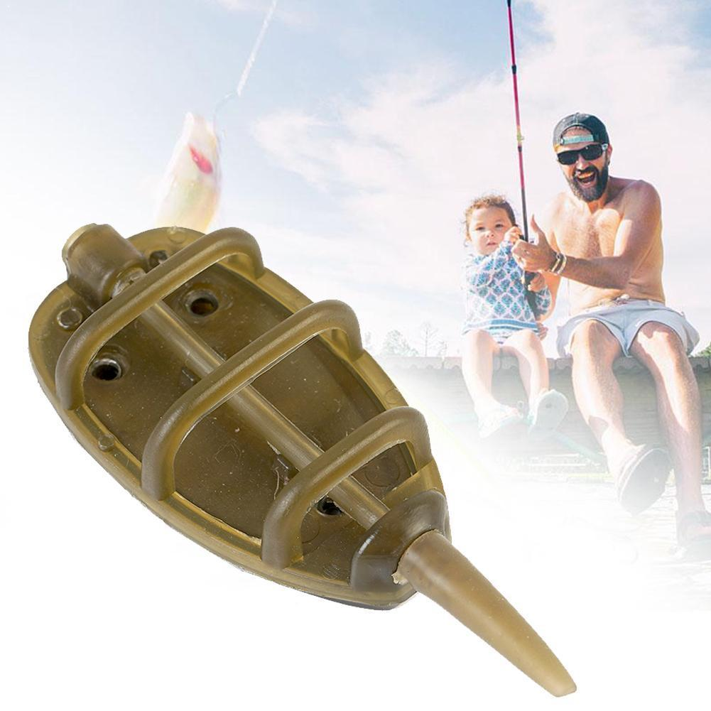 Flat Swim Feeders Inline Method Feeders Carp Fishing Float Bait Tackle Feed Fishing Tool Pond River Holder Feeder Fishing B C1S6