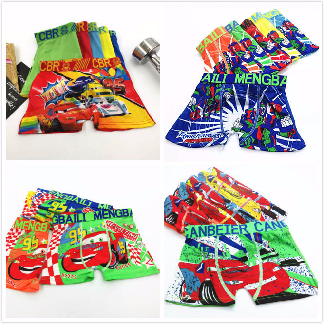 4pcs/lot Underpants Briefs for Boys Underwears   Panties   Infant Boxer Briefs Car Cotton Teenagers Underwears for 2-8Y