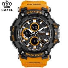 SMAEL 1802 Sports Men's Watches Top Brand Luxury Military Quartz Watch Men Waterproof Shock Male Digital Clock Relogio Masculino