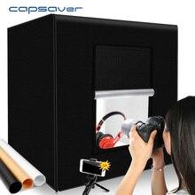Capsaver 60 Cm 80 Cm Hộp Chụp Ảnh LED Lightbox Softbox Di Động Chụp Ảnh Đèn Lều Cho Sản Phẩm Chụp Ảnh
