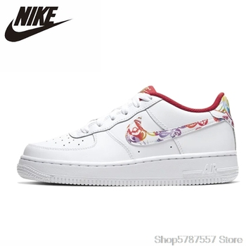 Nike Air Force 1 GS Low Women Skateboarding Shoes Original Comfortbale Balance Outdoor Sports Sneakers
