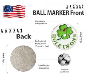 Golf Ball Markers with Magnetic Hat Clip Durable Strong Removable Attaches Easily to Cap Premium Gifts