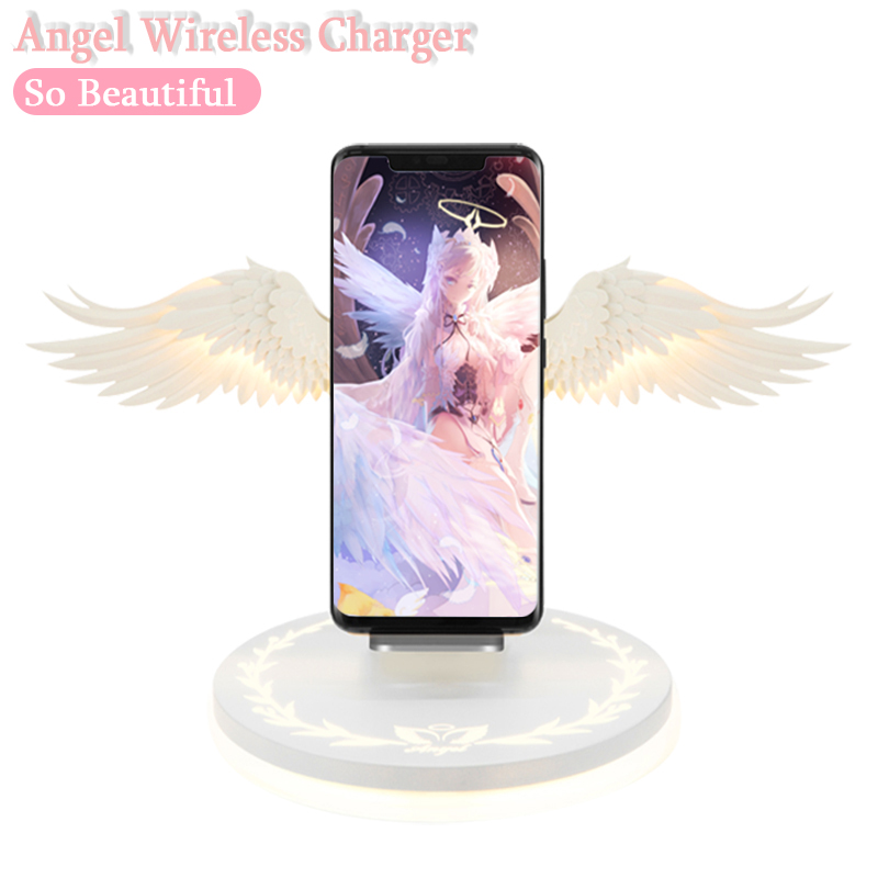 Wireless-Charger Angel Phone-Huawei Quick-Charging Xiaomi Samsung Qi 1 USB For Android