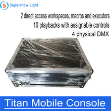 Flight Case Pack TITAN Operating System Titan Mobile Professional Lighting Console Stage Controller For Stage Light DJ Equipment cheap BCL YAN Stage Lighting Effect DMX Stage Light TTM-650 90-240V Professional Stage DJ