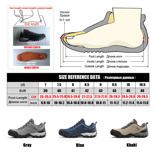Humtto New Arrival Leather Hiking Shoes Wear-resistant  Outdoor Sport Men Shoes Lace-Up Mens Climbing Trekking Hunting Sneakers 6