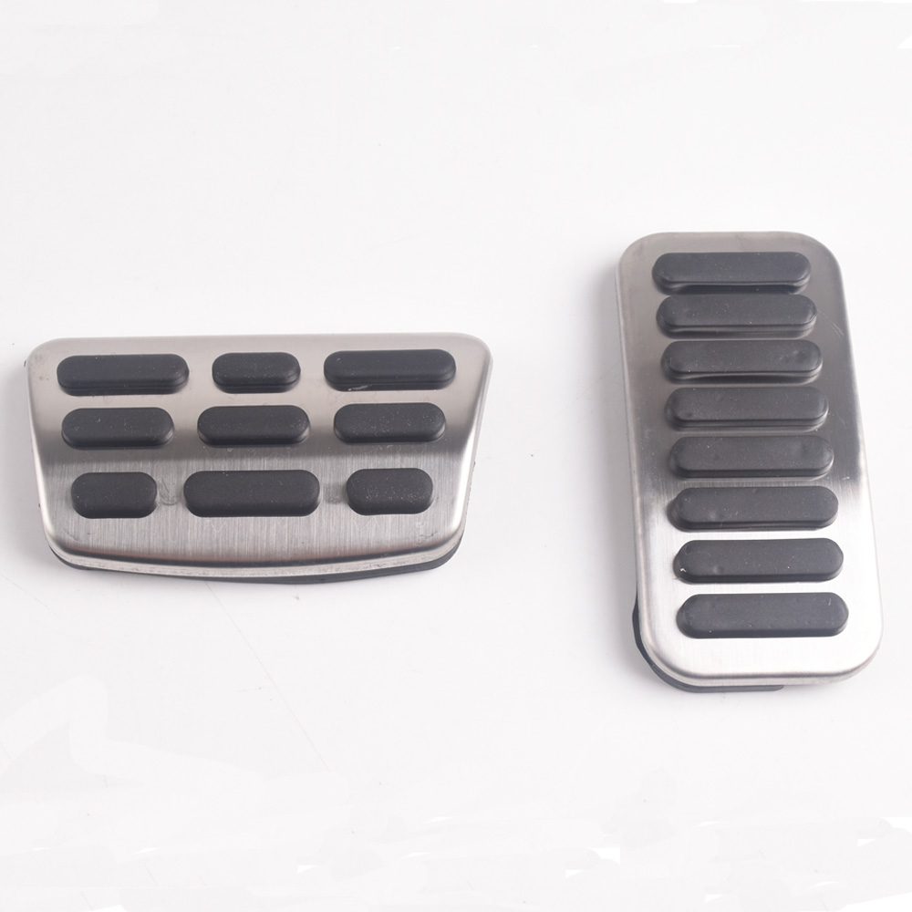 Stainless Steel Gas Fuel Brake Pedal Pads Cover AT For Hyundai Elantra <font><b>i30</b></font> Kona <font><b>2017</b></font>-2019 For Kia Forte 2018-2019 Ceed image