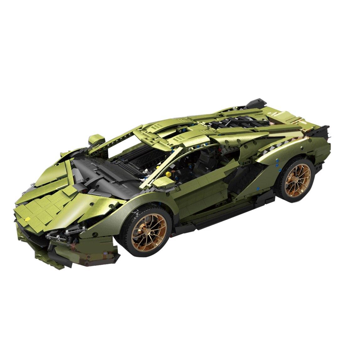 3758Pcs Small Particle Static Version 1:8 Sports Car DIY MOC Building Block Toy Kit - Type 13057