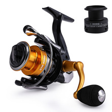 Metal Fishing reel spinning Double spool coil 6+1BB carp fishing spinning reel no gap speed 5.5:1 casting feeder fishing