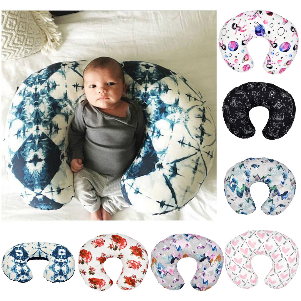 Baby Cartoon Pillow Case Minky Nursing Newborn Infant Baby Breastfeeding Pillow Cover Nursing Slipcover наволочка на подушку