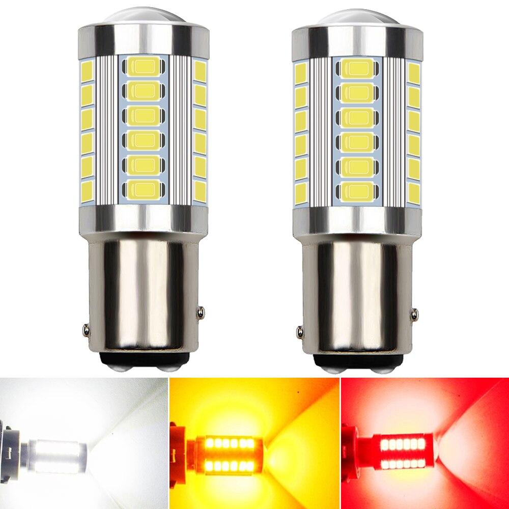 2 шт. супер яркий Новый 1157 P21/5 Вт BAY15D 1200Lm LED авто задний тормоз сигнальная Поворотная лампа Автомобильные дневные ходовые огни белый оранжевы...