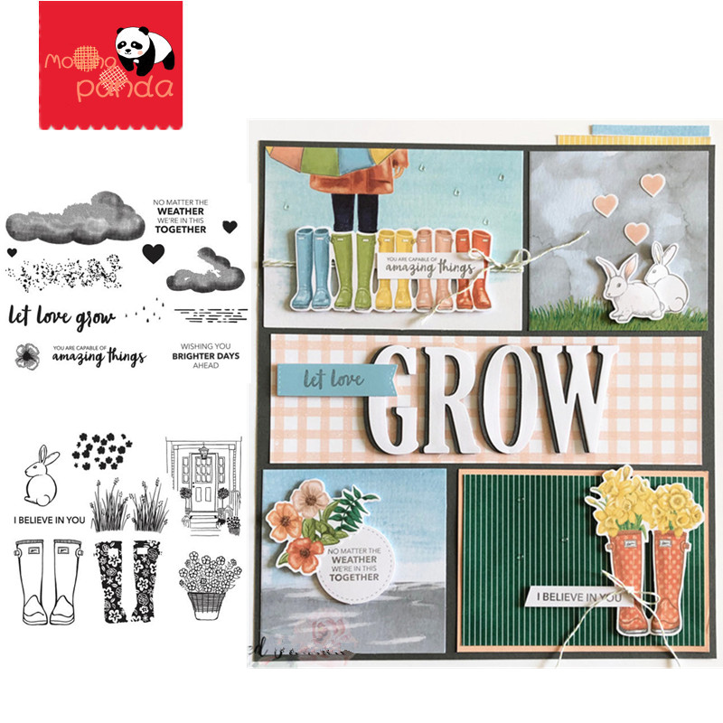 MP099 MP100 NO MATTER THE WEATHER Metal Cutting Dies And Stamps DIY Scrapbooking Card Stencil Paper Cards Paper Cards Decor