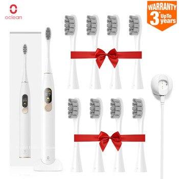 Versión Global Oclean X sonic cepillo de dientes eléctrico 8 Uds cabezas a prueba de agua Ultra sonic carga rápida Color pantalla cepillo de dientes