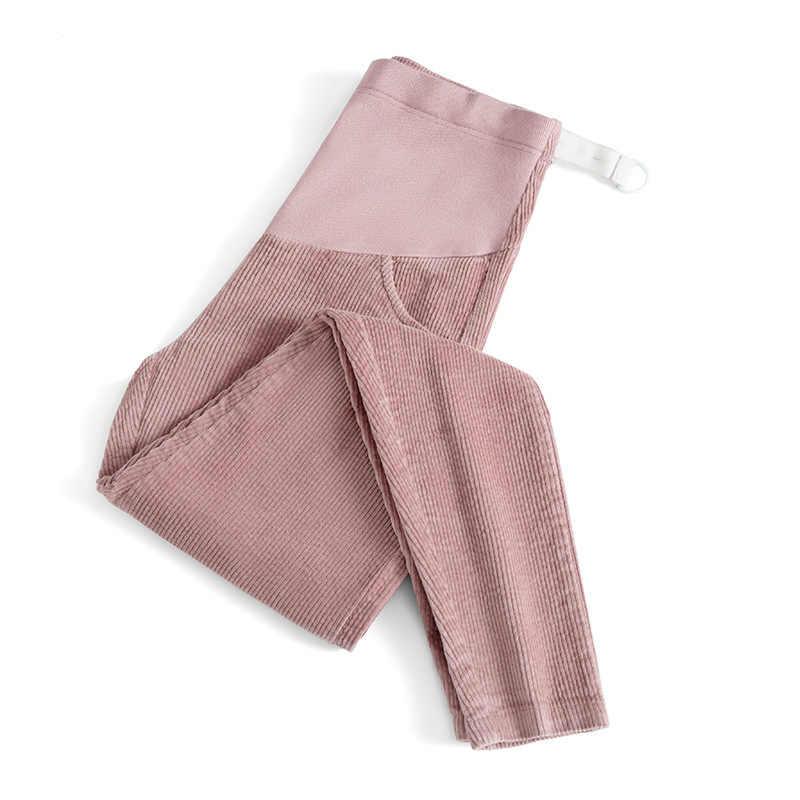 Mais tamanho xxl calças para grávidas mulheres grávidas conforto ajustável cintura alta barriga veludo calças roupas