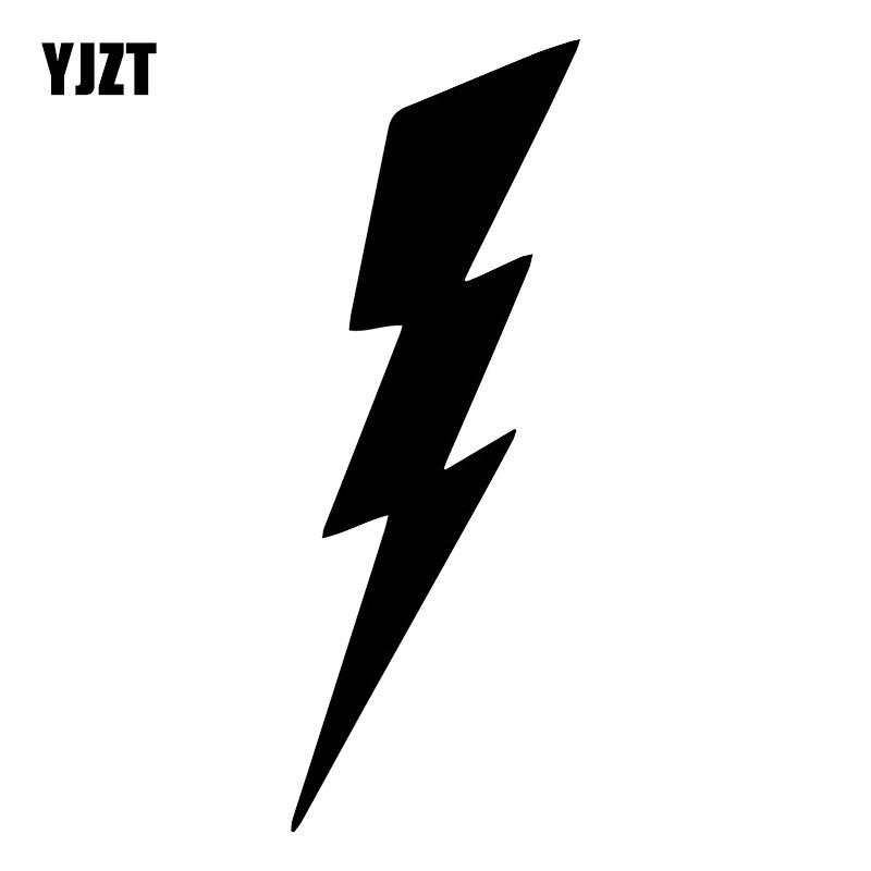 YJZT 5.8X16CM Lightning Cartoon Vinyl Decal Scratch Occlusion Decoration Car Sticker C25-1227