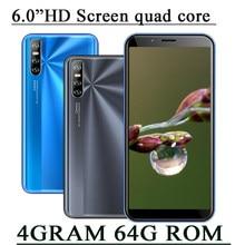 9C 6.0 cal smartfony 2SIM telefonów komórkowych Face ID odblokowany czterordzeniowy IPS Android 4G RAM 64G ROM oryginalny Celulares telefony komórkowe