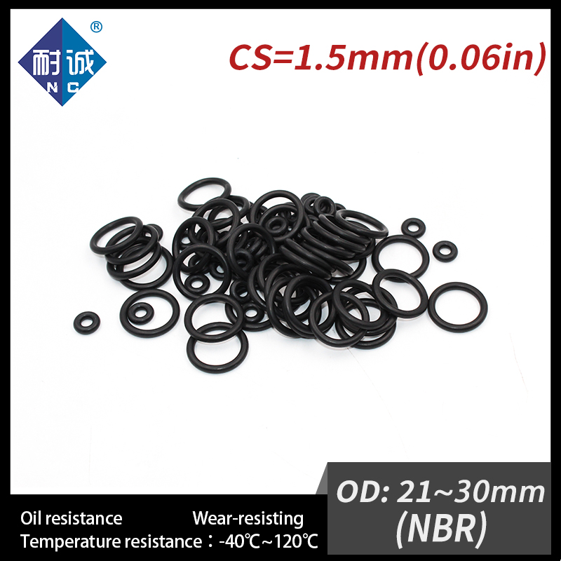 10 Pcs 70mm x 1.5mm Rubber O-rings NBR Heat Resistant Sealing Ring Grommets