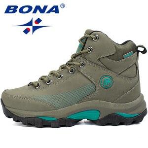 Image 4 - BONA yeni popüler stil kadın yürüyüş ayakkabıları açık keşfetmek çok Fundtion yürüyüş Sneakers aşınma direnci spor ayakkabılar kadınlar için