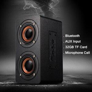 Image 3 - Bluetooth עץ בס רמקול 10W HiFi AUX קלט TF כרטיס השמעת אלחוטי סאב נייד בס טור