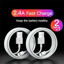 Câble USB mural de Type C pour recharge rapide et synchronisation, cordon de chargeur pour iPhone 12 11 Pro Max 8 7 6 Plus, 0.25m/1m/2m/3m