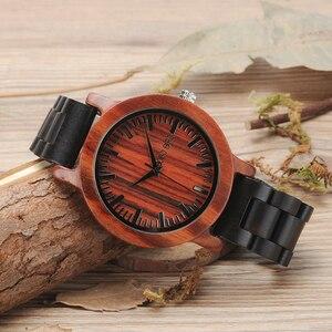 Image 5 - Promocyjna wyprzedaż BOBOBIRD zegarek drewniany mężczyzna kobiet zegarki kwarcowe prezent na boże narodzenie najlepszy prezent w pudełku montre homme
